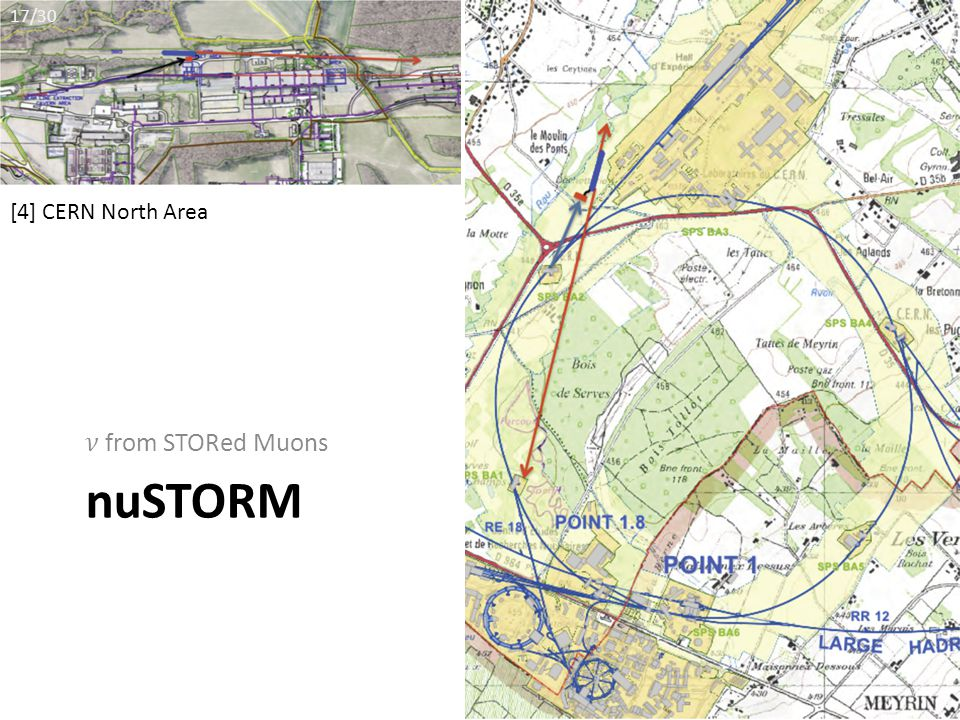 nuSTORM [4] CERN North Area 17/30