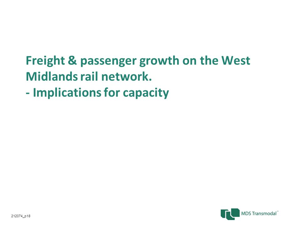Freight & passenger growth on the West Midlands rail network.