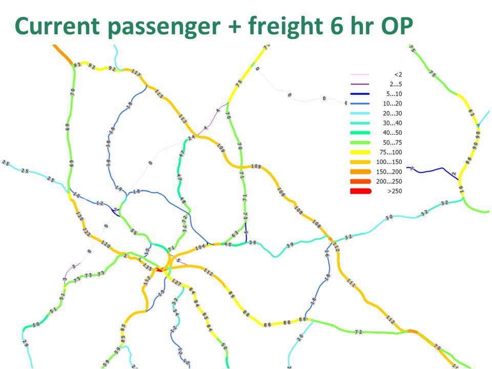 Current passenger + freight 6 hr OP