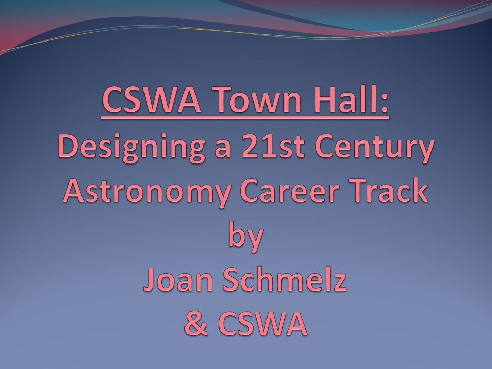 CSWA Joan Schmelz Chair (2009 - 2012) Univ.of Memphis Dept.