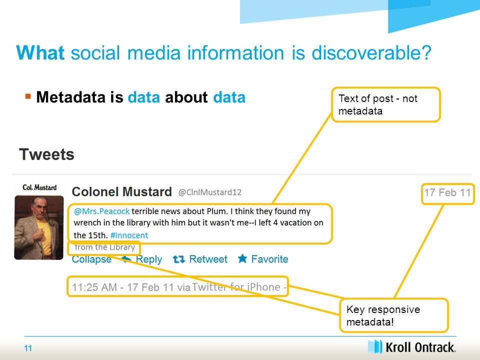 11 What social media information is discoverable.