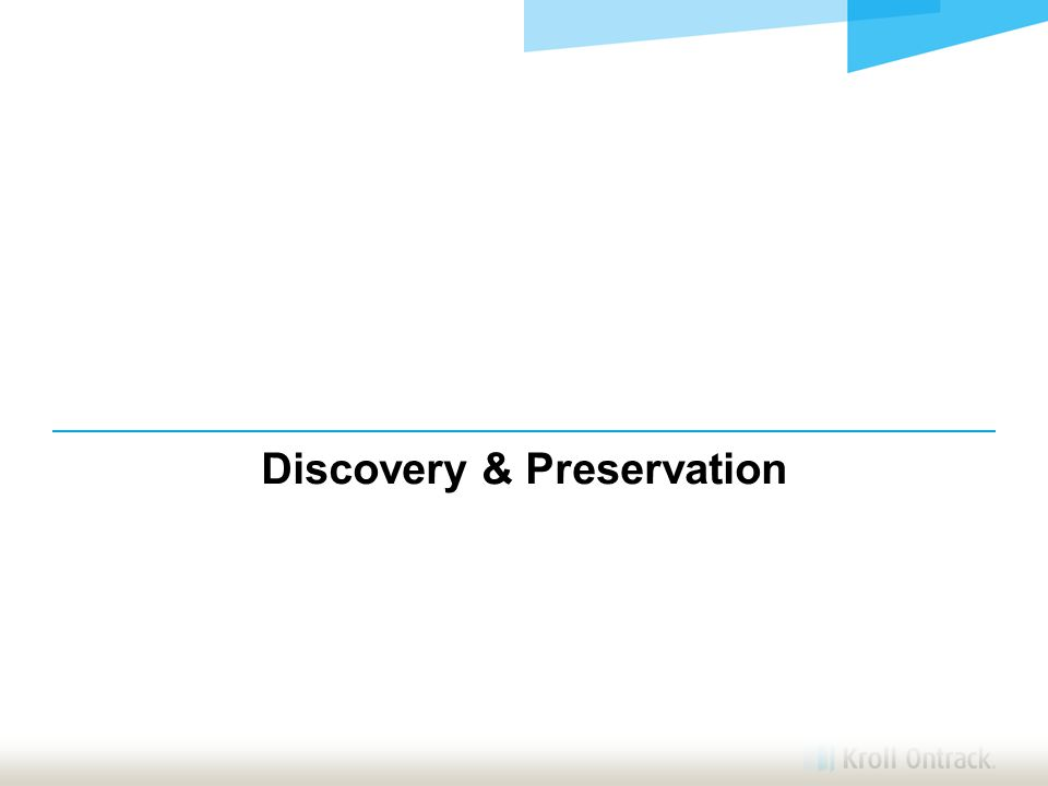 Discovery & Preservation