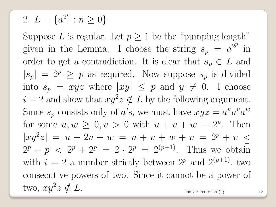 12M&S P. 84 #2.20(4) _