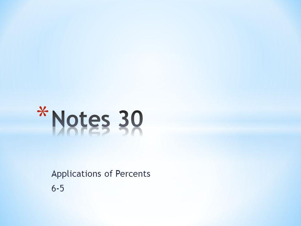 Applications of Percents 6-5
