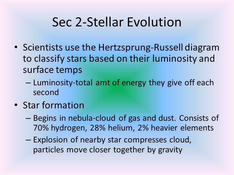 Star formation cont.