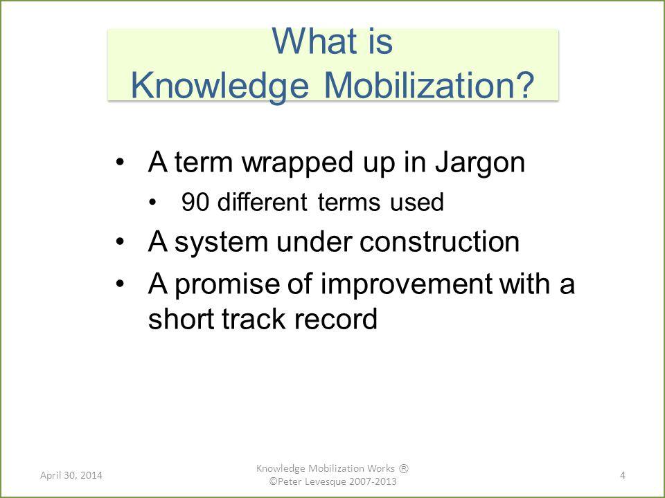 Plain Language Summaries http://researchimpact.wordpress.com/ http://researchimpact.wordpress.com/ 25 April 30, 2014 Knowledge Mobilization Works Ⓡ ©Peter Levesque 2007-2013