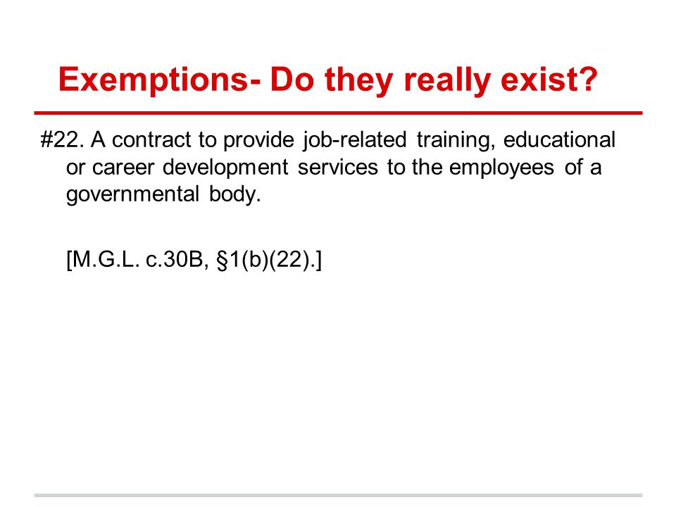 Exemptions- Do they really exist. #22.