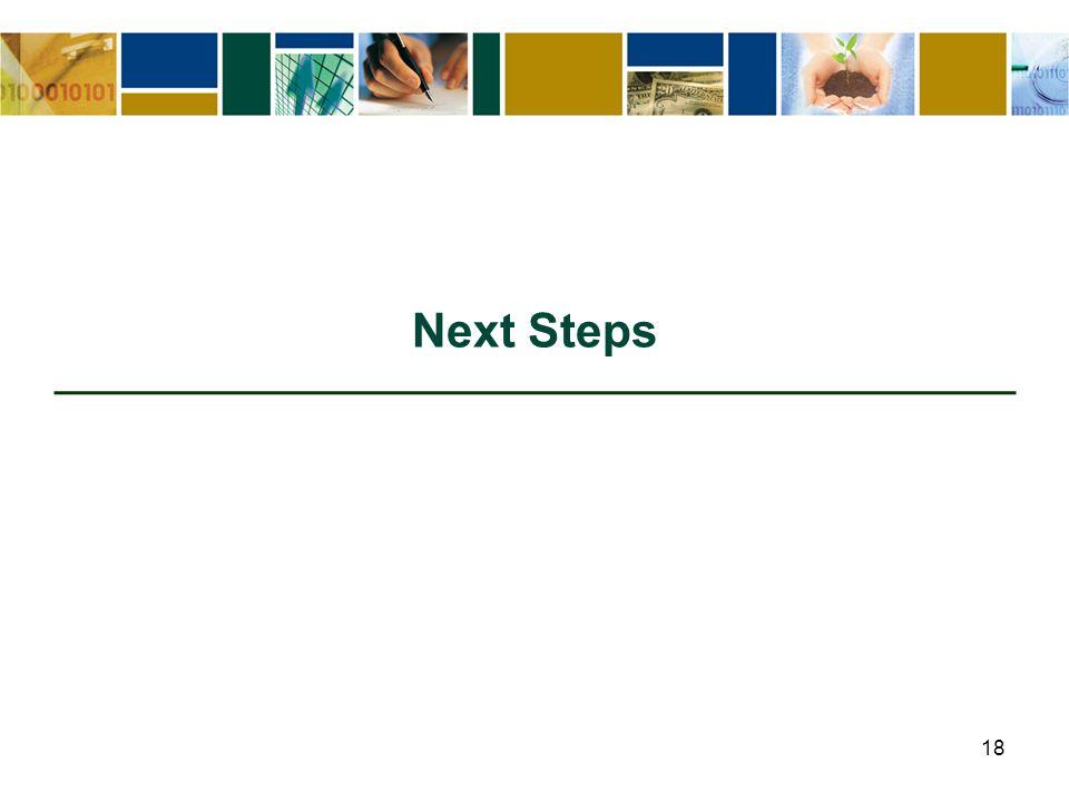 18 Next Steps
