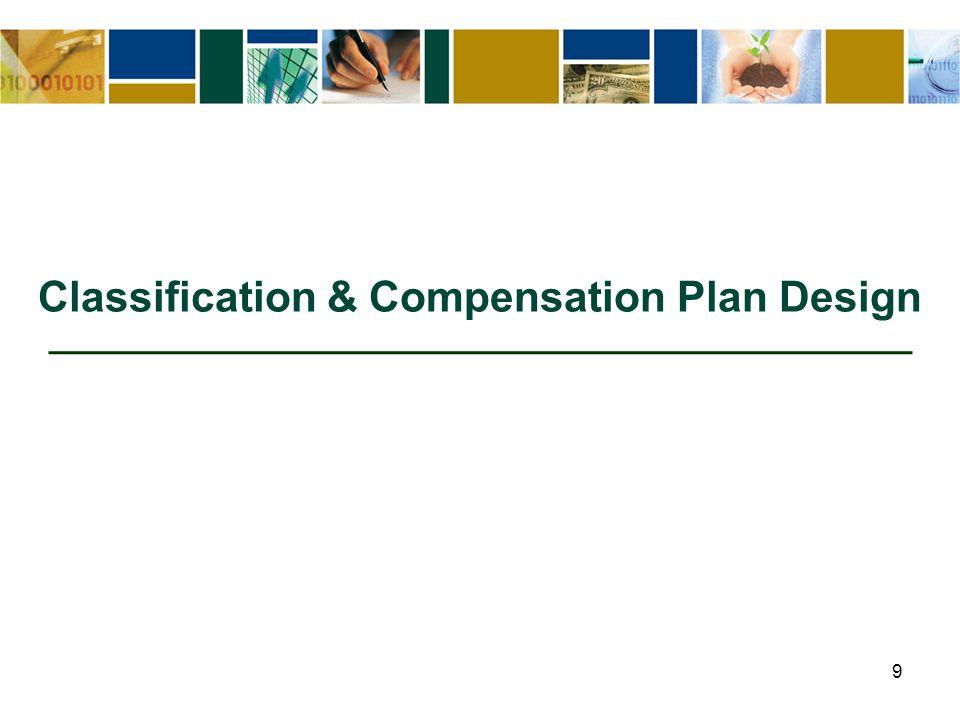 9 Classification & Compensation Plan Design