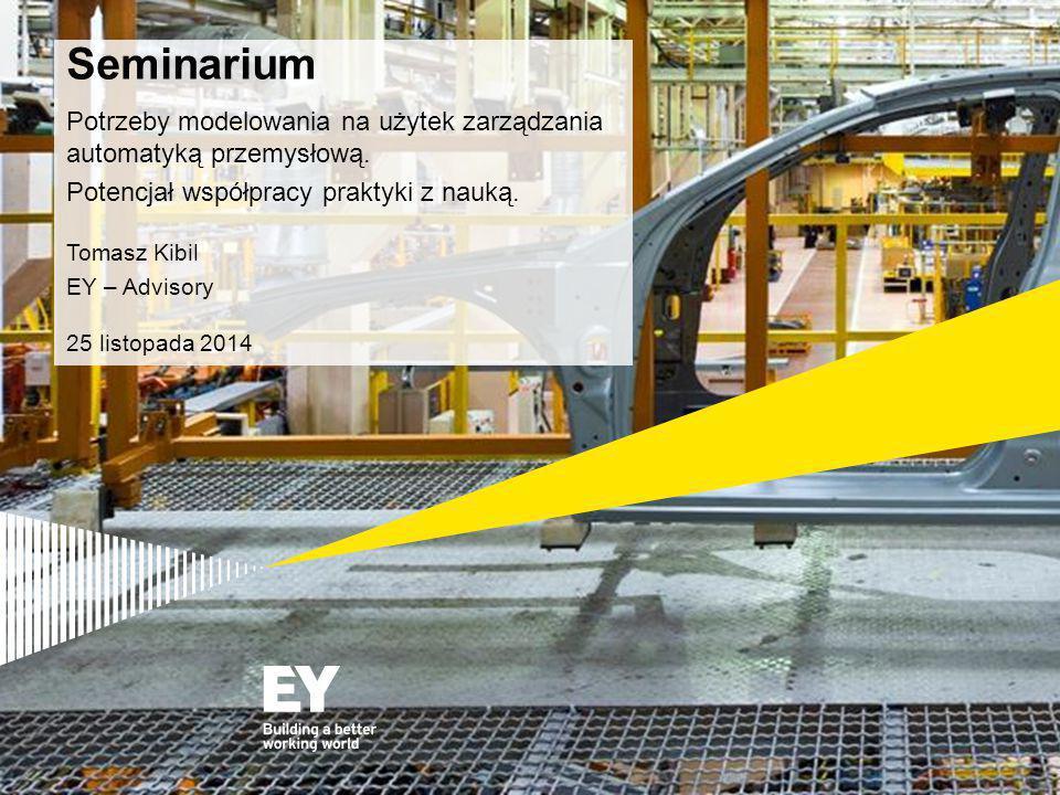 Seminarium Potrzeby modelowania na użytek zarządzania automatyką przemysłową.