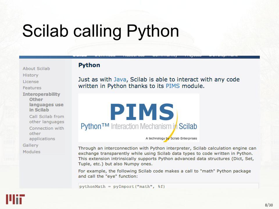 8/30 Scilab calling Python