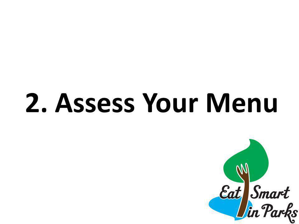 2. Assess Your Menu