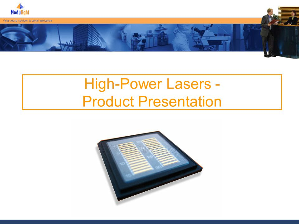 Value adding solutions to optical applications Initial Burn-In Results Time (h) Optical Power (W)