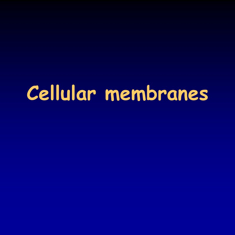 Cellular membranes