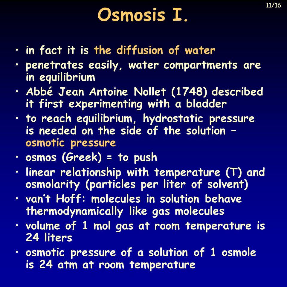 Osmosis I.