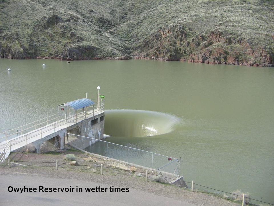 Owyhee Reservoir in wetter times