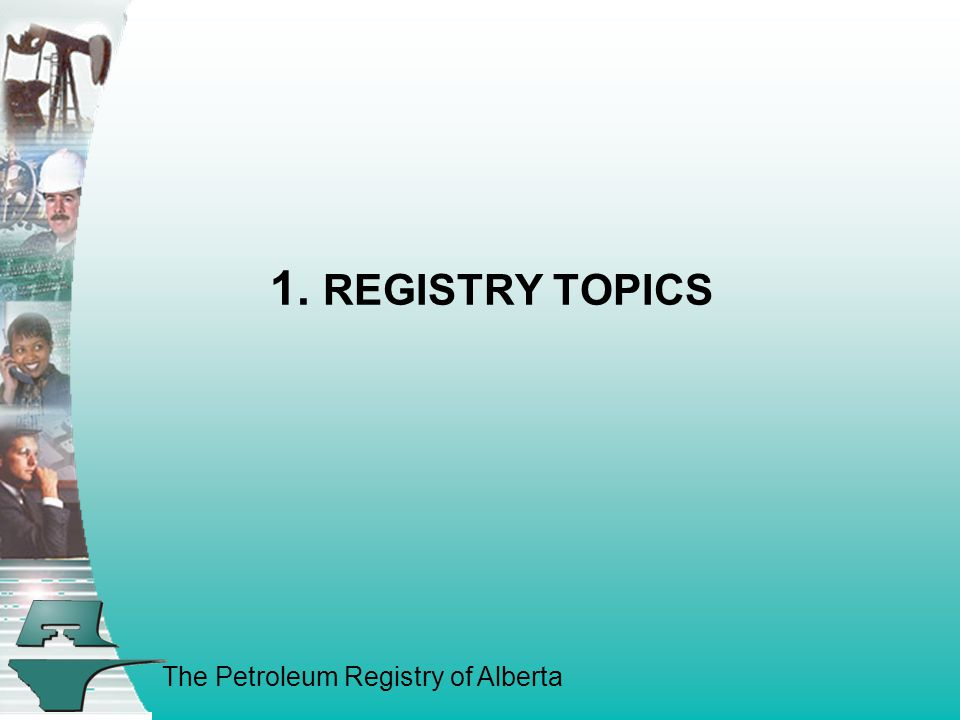 The Petroleum Registry of Alberta Registry Topics a)Interest from Outside Jurisdictions  British Columbia Post Business Case completion discussions continue.