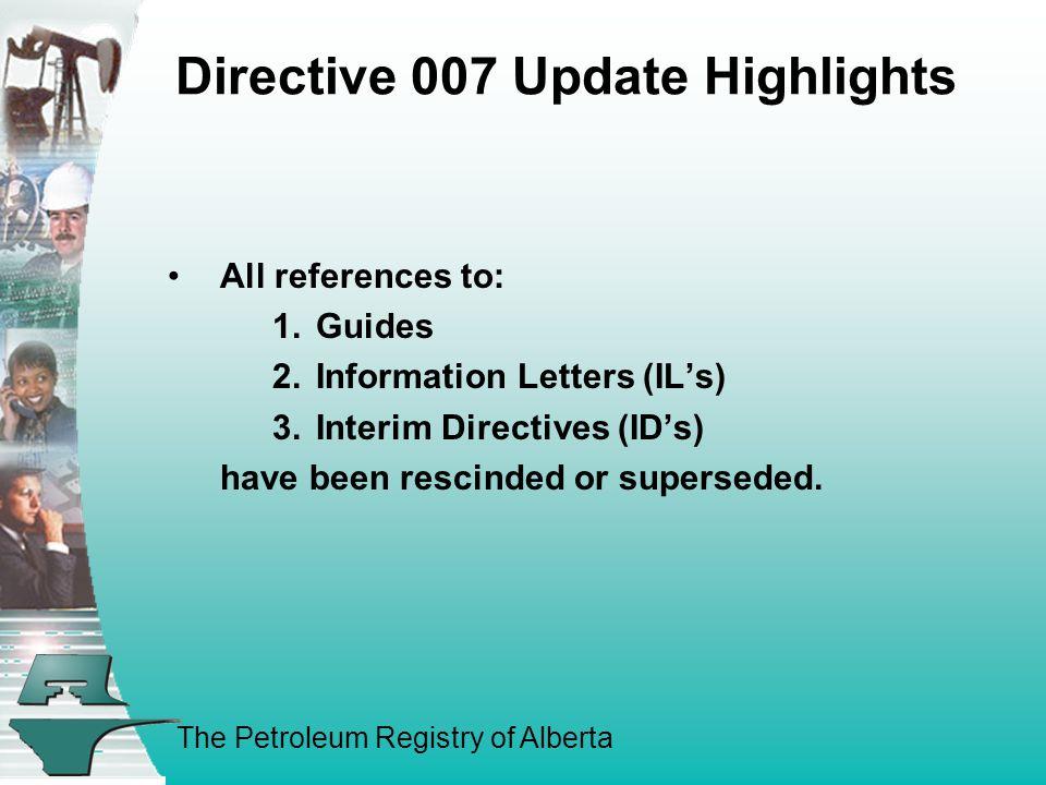 The Petroleum Registry of Alberta REGISTRY TRAINING UPDATE PROJECT