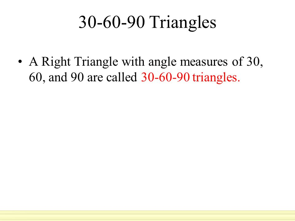 Example 1 Find Leg Length SOLUTION You can use the Pythagorean Theorem to find the value of b.
