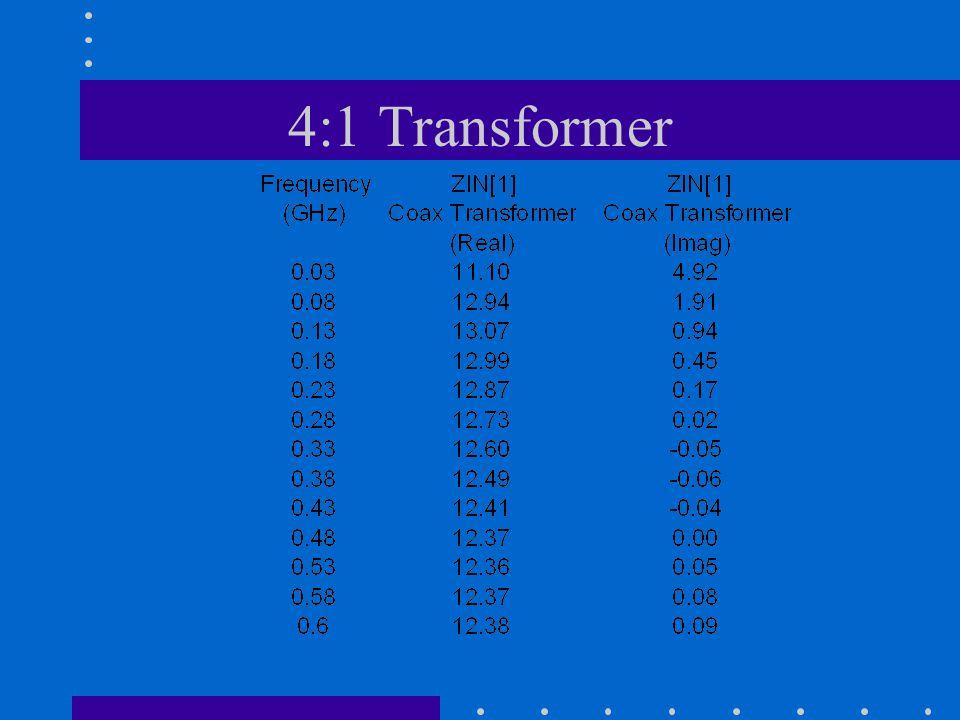 4:1 Transformer