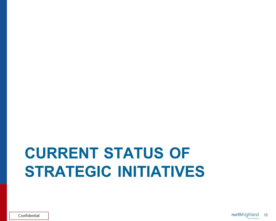 Confidential COMMUNICATIONS STRATEGY INITIATIVE Pat Chivers 11