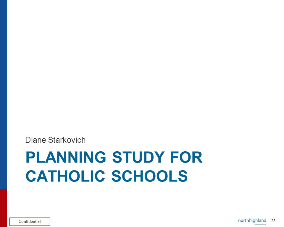 Confidential 29 Planning Study for Catholic Schools Issue/Challenge addressed Team Members  Chris Reynolds (Chair)  Karen Vogtner (Vice Chair)  Msgr.
