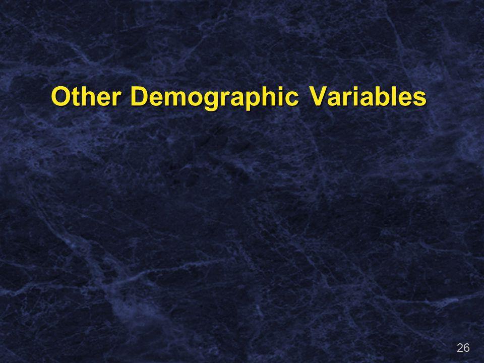 25 Seroprevalence Rates by Marital Status Marital Status HSV-2 Seroprevalence (%)