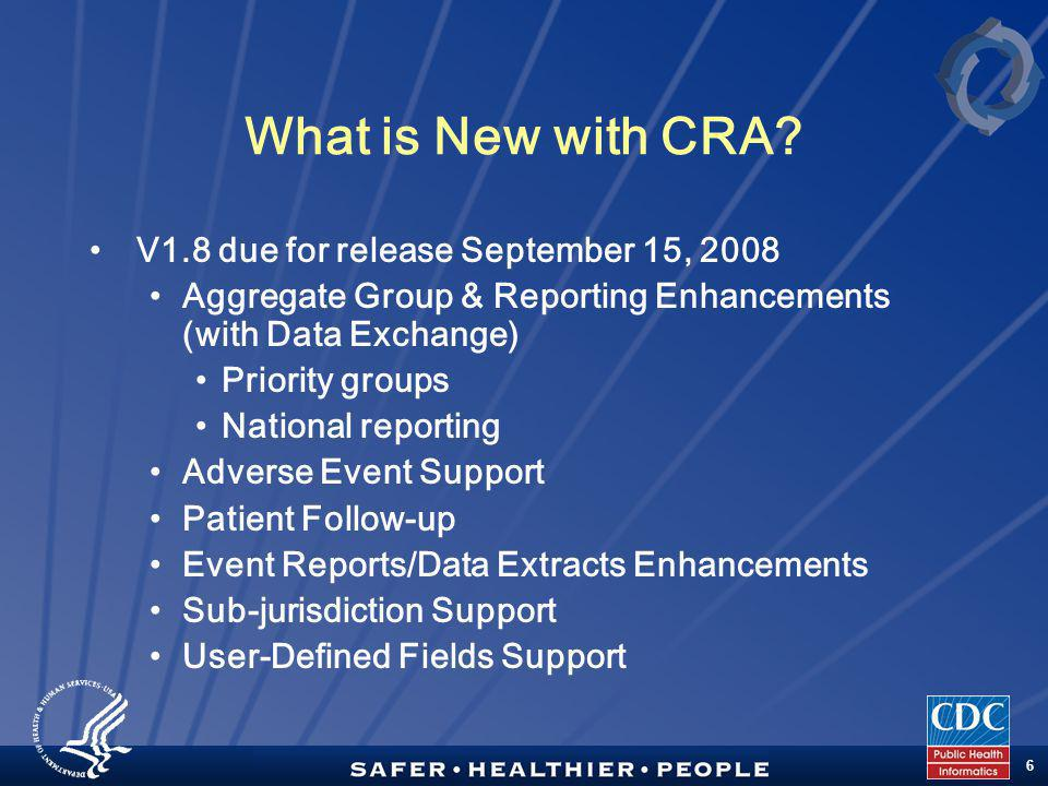 TM 6 What is New with CRA.