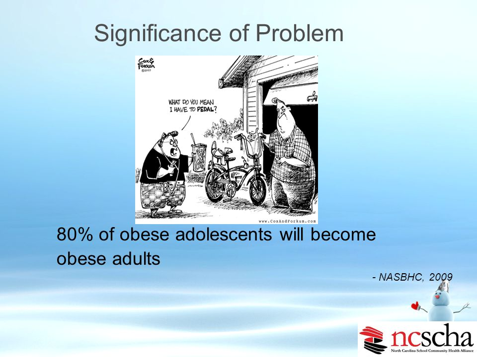 Health Risks of Obesity: Psychological Actual and perceived overweight is an important risk factor for suicidal behaviors in youth Risk factor for sui
