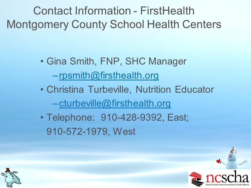 Contact Information - Wake Teen Medical Services Kara Richards, Project Coordinator –krichards@waketeen.orgkrichards@waketeen.org Meg McHenry, Nutriti