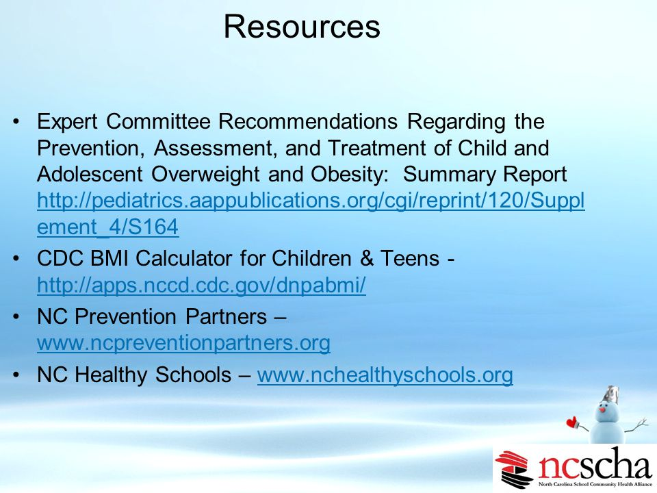Resources NASBHC - http://ww2.nasbhc.org/RoadMap/CONVENTION09/D7_1.