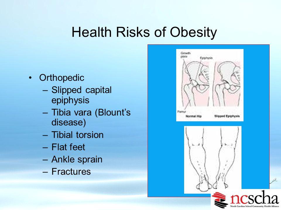 Health Risks of Obesity Pulmonary Sleep disorders Asthma Obesity-linked hypoventilations Neurologic Pseudotumor cerebri 6