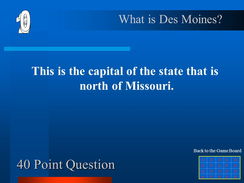 30 Point Question This is the postal abbreviation for the state that is divided by one of the Great Lakes.