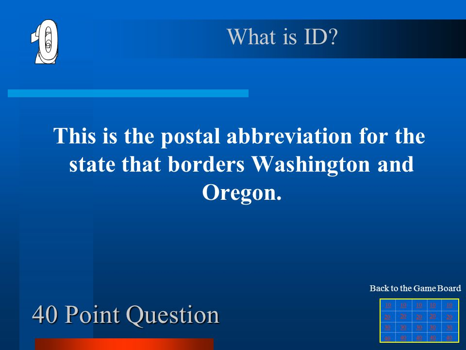 30 Point Question This is the capital for the state that is west of Colorado.