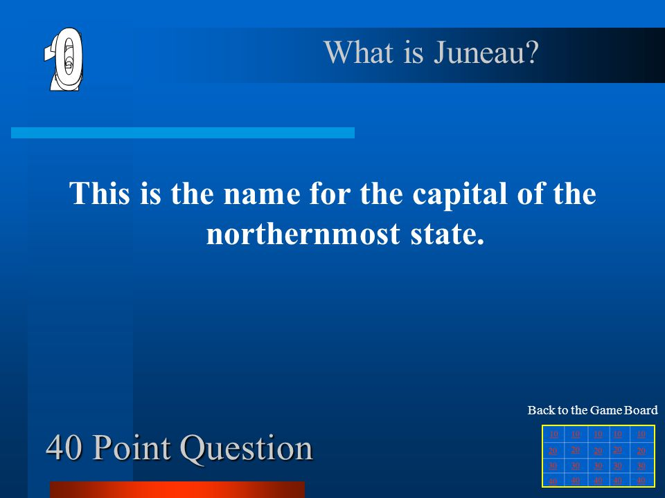 30 Point Question This is the postal abbreviation for the state that borders the Pacific Ocean, and who's name has 3 syllables. What is CA? Back to th