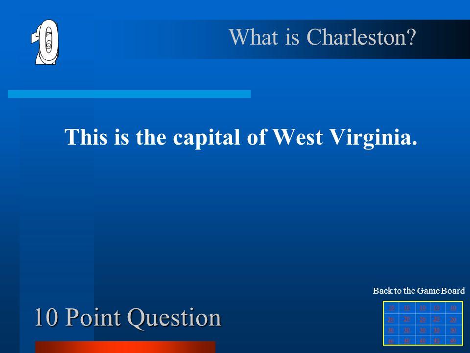 Final Jeopardy Question Northeast Region Southeast Region Middle West Region Mountain Region Southwest or West Region 10 20 30 40