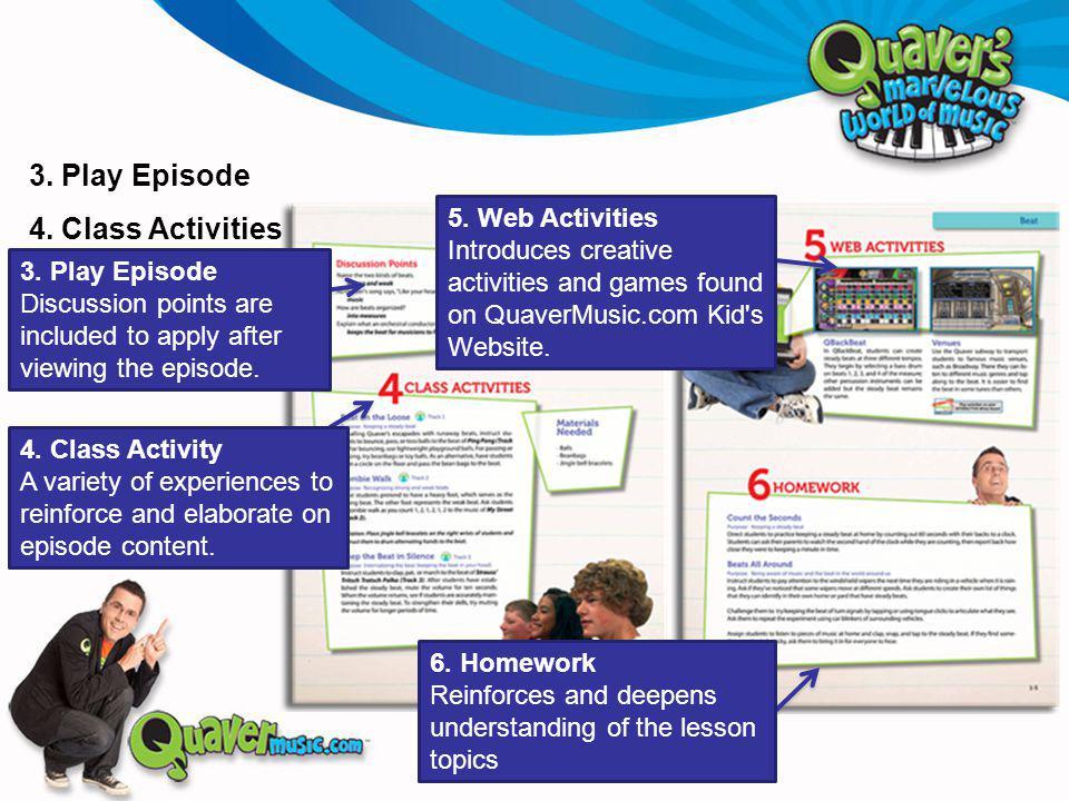 3. Play Episode 4. Class Activities 4.