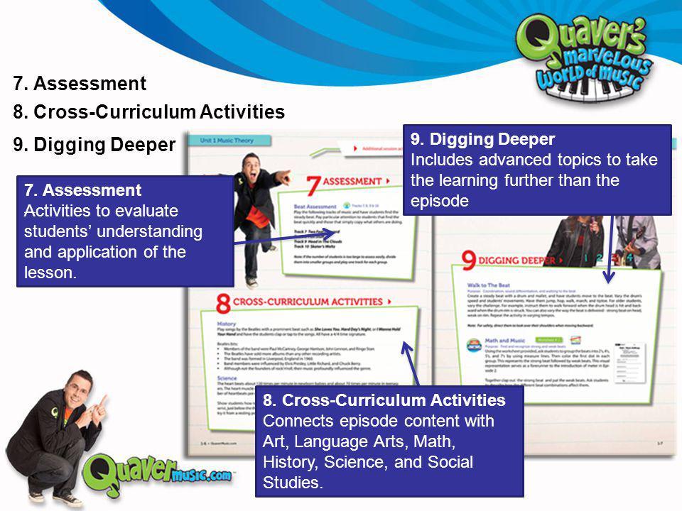 7. Assessment 8. Cross-Curriculum Activities 7.