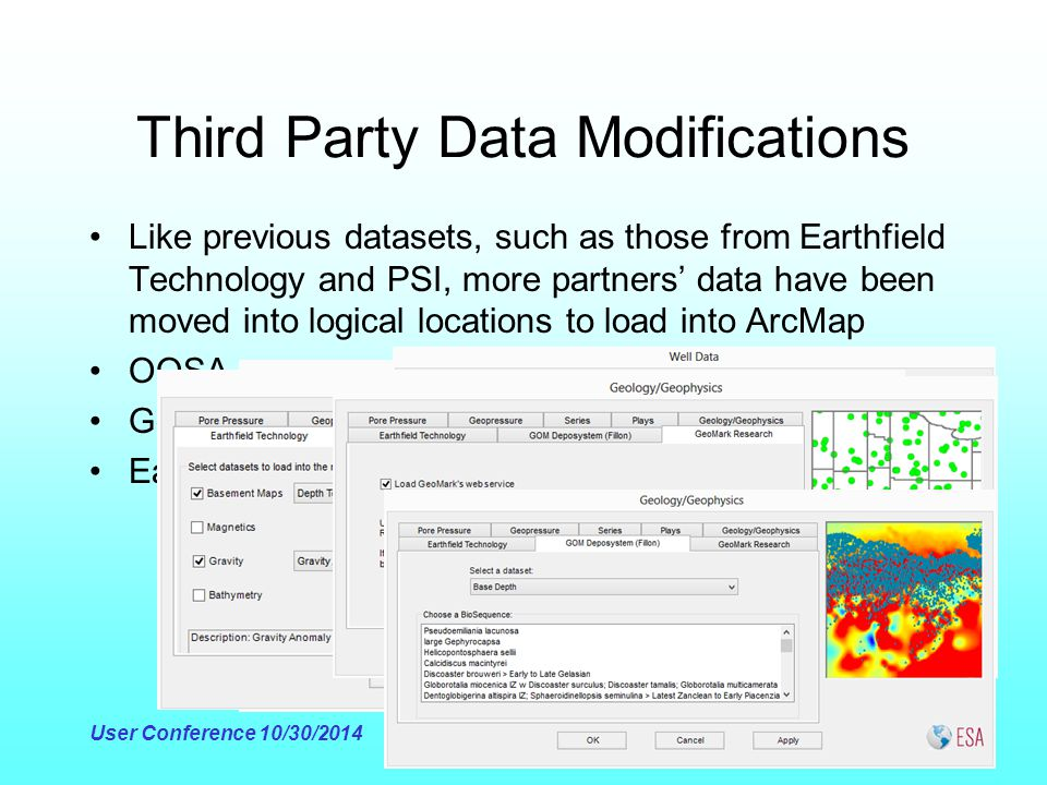 Third Party Data Modifications Like previous datasets, such as those from Earthfield Technology and PSI, more partners' data have been moved into logi