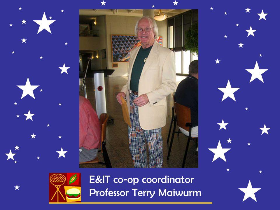 E&IT co-op coordinator Professor Terry Maiwurm