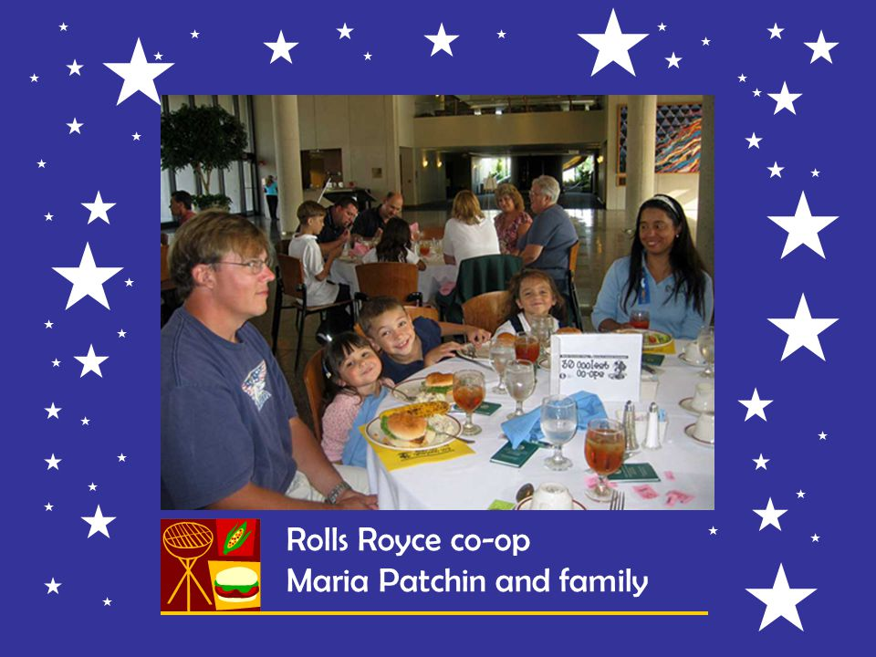 Rolls Royce co-op Maria Patchin and family