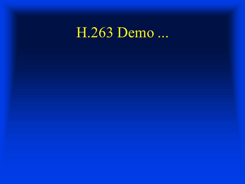 H.263 Demo...