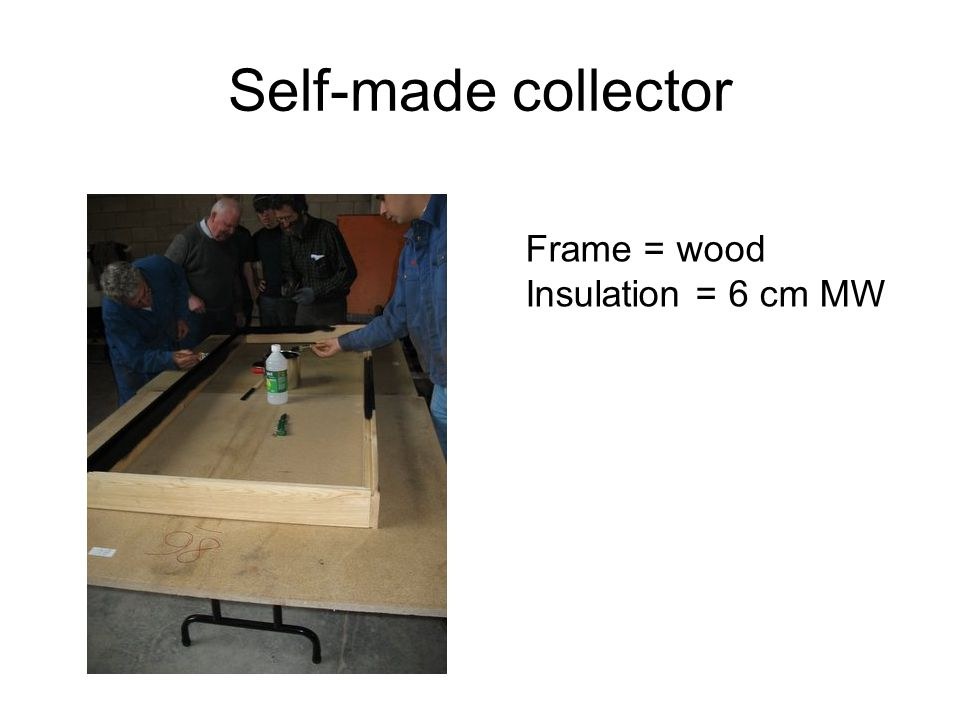 Frame = wood Insulation = 6 cm MW
