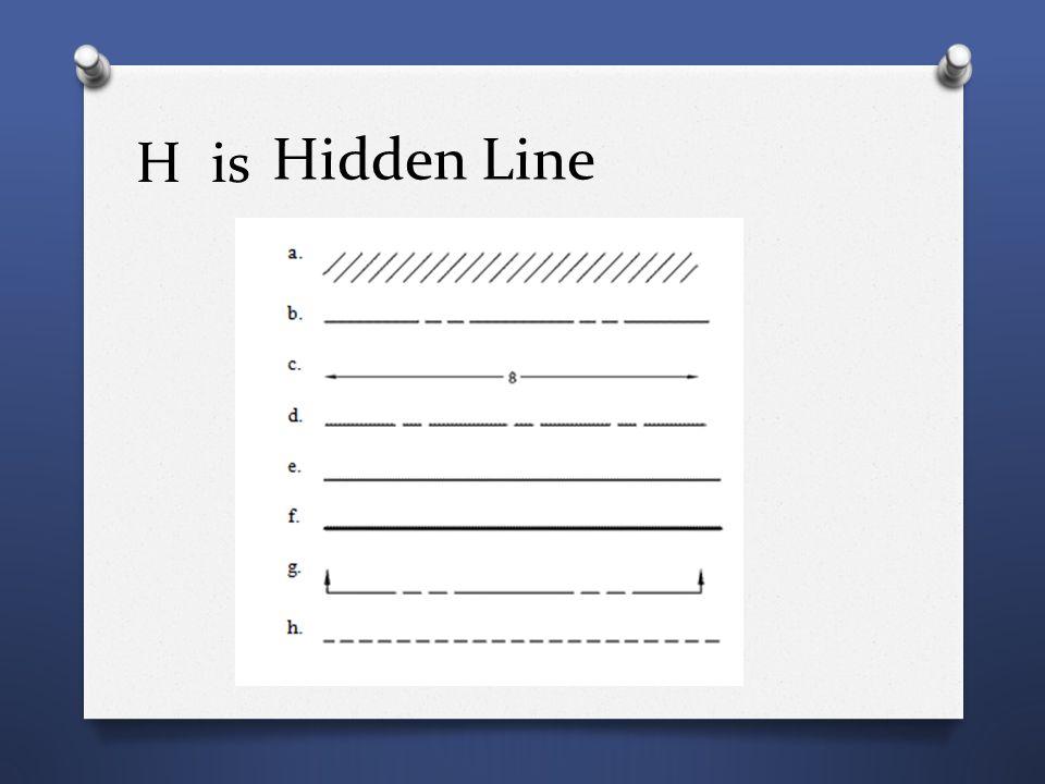 H is Hidden Line