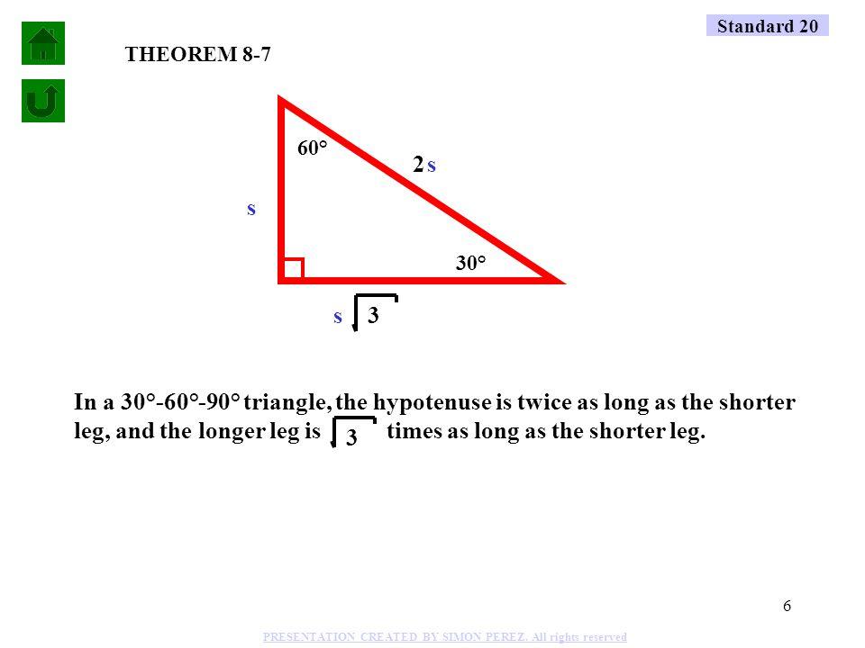 5 60° 30° 1 2 3 (.5) (2) (s) 1 2 3 60° 30° 1 2 3 60° 30° 1 2 3 60° 30° Standard 20 7.