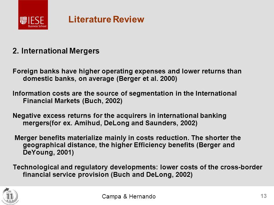 Campa & Hernando 13 Literature Review 2.