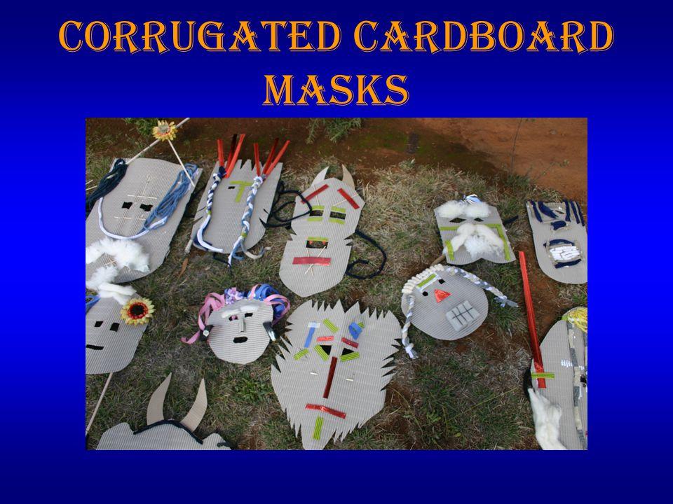 Corrugated Cardboard Masks