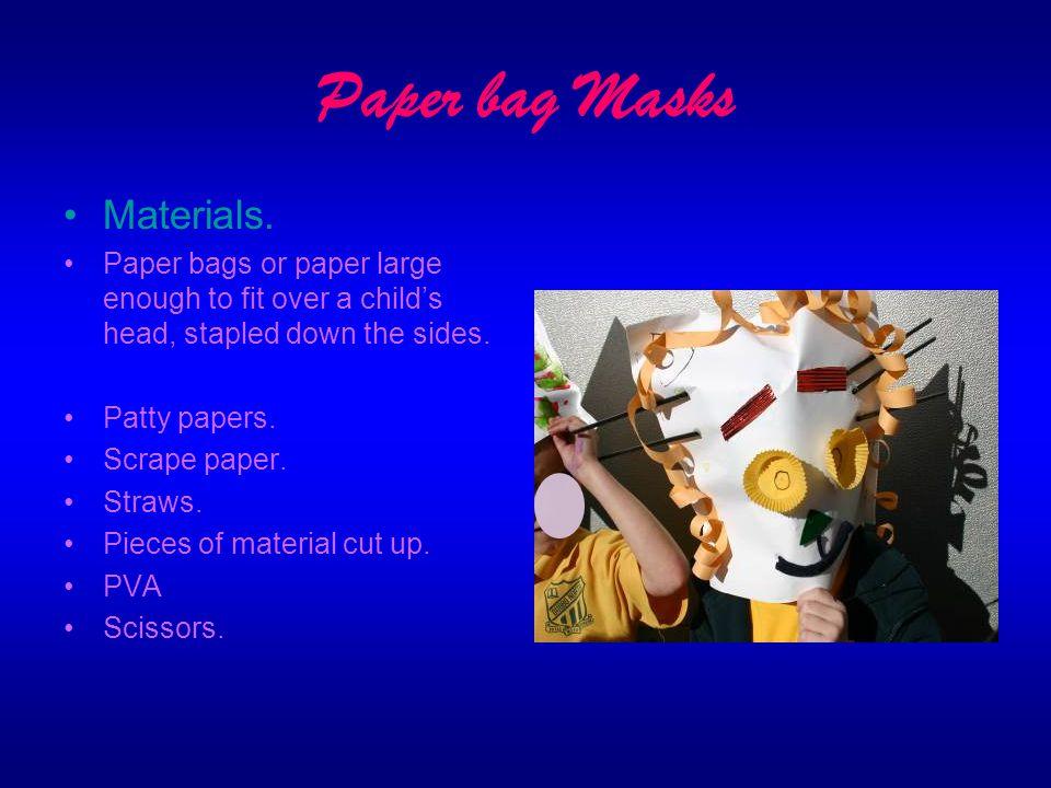 Paper bag Masks Materials.