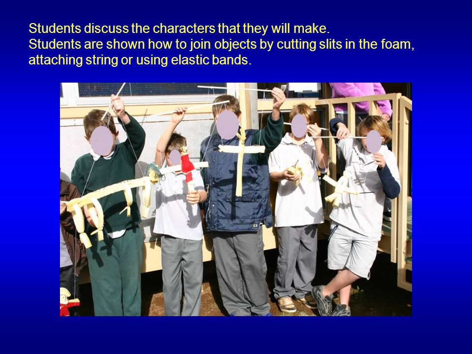 Students are given 30 cm wide,60 cm long pieces of corrugated cardboard..