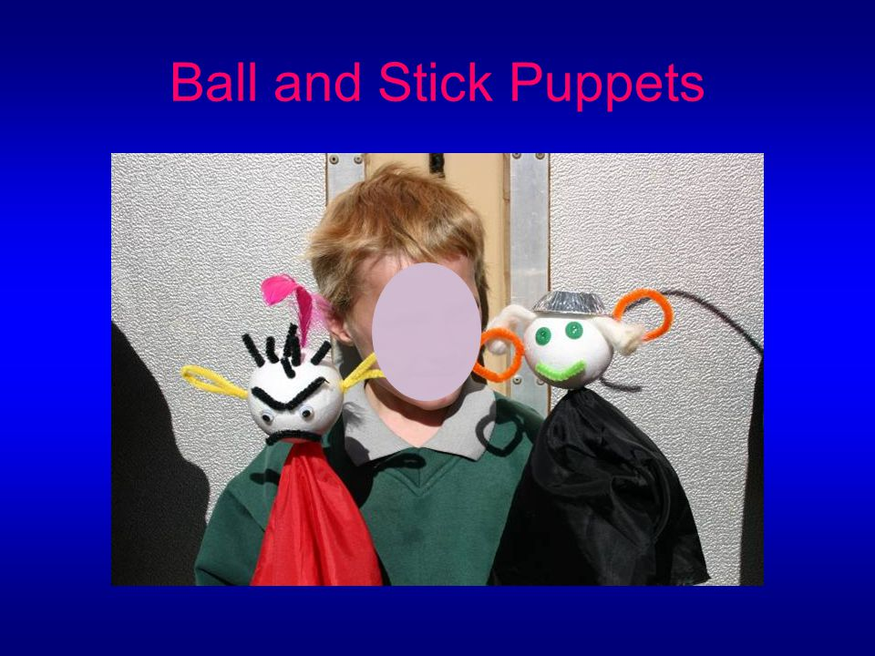 Ball and Stick Puppets